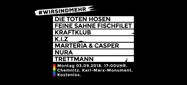 """""""Wir sind mehr"""" - Musiker formieren sich am Montag in Chemnitz gegen rechts"""